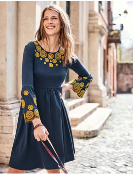 Emilia Embroidered Dress by Boden