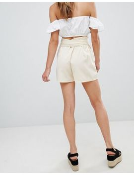 Boohoo Petite Paperbag Waist Shorts by Boohoo