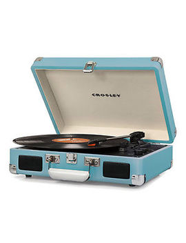 Crosley Cruiser Deluxe Portable Bluetooth Record Player Turntable, Turquoise by Crosley