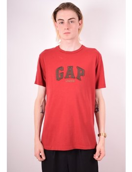 Gap Mens Vintage T Shirt Top Medium Red 90s by Gap