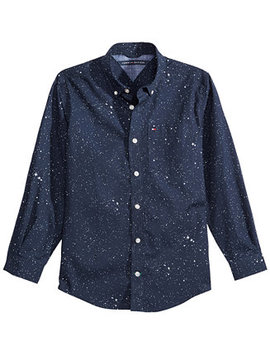 Big Boys Under The Stars Printed Cotton Shirt by Tommy Hilfiger