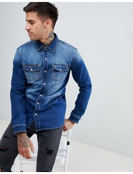 Good For Nothing Muscle Denim Shirt by Good For Nothing