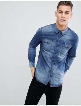 Superdry Resurrection Shirt In Blue by Superdry