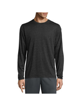 Xersion Heather Power Long Sleeve Crew Neck T Shirt by Xersion