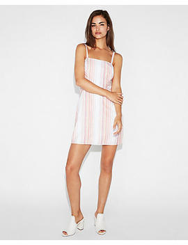 Stripe Fit And Flare Cami Dress by Express