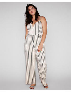 Striped V Wire Cami Jumpsuit by Express