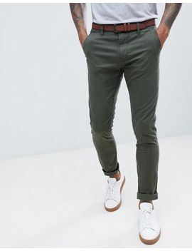 Tom Tailor Skinny Chino With Belt by Tom Tailor