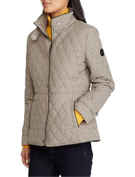 Houndstooth Quilted Military Jacket by Lauren Ralph Lauren