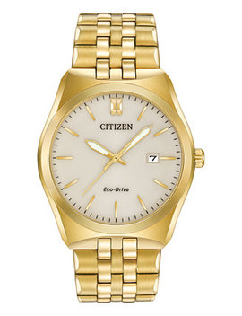 Men's Eco Drive Gold Tone Stainless Steel Bracelet Watch 40mm Bm7332 53 P by Citizen