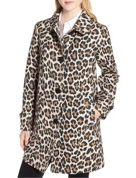 Leopard Print Water Repellent Coat by Kate Spade New York