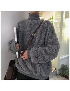 Turtleneck Fleece Sweatshirt by Very Berry