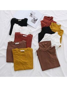 Turtleneck Long Sleeve T Shirt by Lemonade