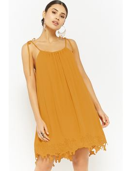 Embroidered Crepe Tunic by Forever 21