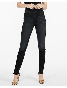 High Waisted Dark Wash Perfect Curves Stretch+ Jean Leggings by Express