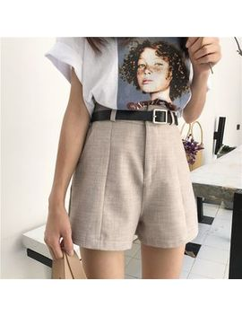 Wide Leg Shorts With Belt by Monroll