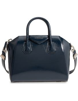 Small Antigona Creased Patent Leather Satchel by Givenchy