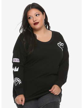Disney Kingdom Hearts Heart Girls Crew Sweater Plus Sizes by Hot Topic