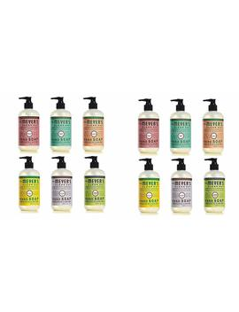 Mrs. Meyers Clean Day Liquid Hand Soap Variety Pack, 12.5 Oz Each, 12 Bottle Set by Mrs. Meyers