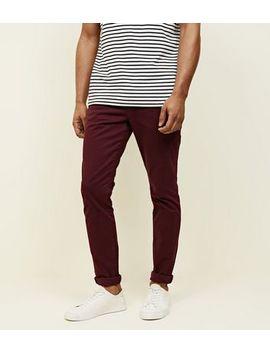 Burgundy Skinny Stretch Chinos by New Look