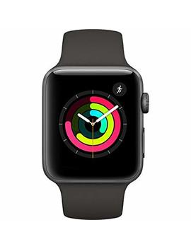 Apple Watch Series 3 42mm Smartwatch (Certified Refurbished) (Space Gray Aluminum Case, Gray Sport Band) by Apple