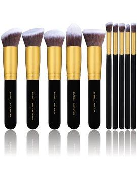 Bs Mall(Tm) Makeup Brushes Premium Makeup Brush Set Synthetic Kabuki Cosmetics Foundation Blending Blush Eyeliner Face Powder Brush Makeup Brush Kit (10pcs,... by Bs Mall