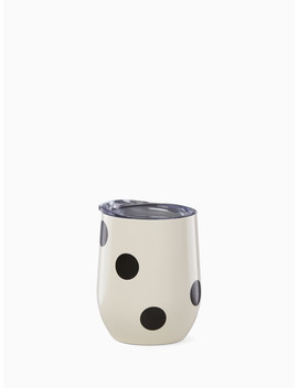 Deco Dot Stemless Tumbler by Kate Spade
