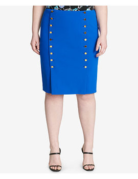 Plus Size Embellished Pencil Skirt by Calvin Klein