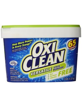 Oxiclean Versatile Stain Remover Free, 65 Loads, 3 Pounds (Pack Of 4) by Oxi Clean
