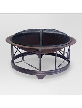 "Kendall 29"" Steel Wood Burning Firebowl   Round   Threshold™ by Threshold™"