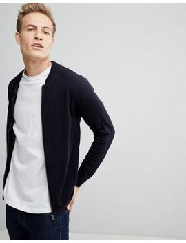 French Connection Knitted Bomber Jacket by French Connection