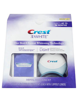 Crest 3 D White Whitestrips With Light, Teeth Whitening Strips Kit, 10 Count by Crest