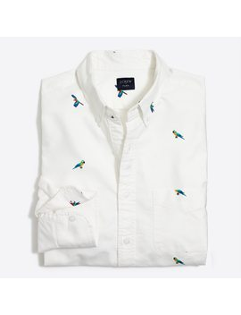 Slim Flex Printed Oxford Shirt by J.Crew