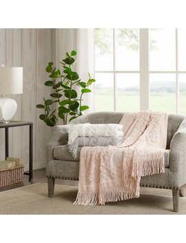 "Home Essence Mila 100 Percent Cotton Tufted Throw Blanket, 50""W X 60""L by Home Essence"