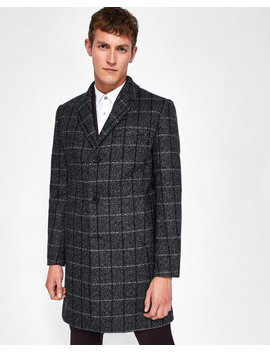 Checked Wool Overcoat by Ted Baker