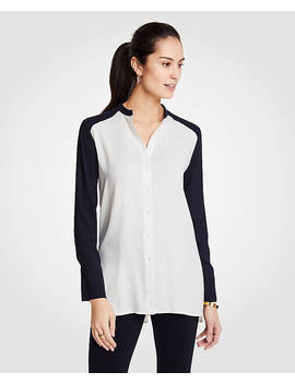 Petite Colorblock Tunic by Ann Taylor