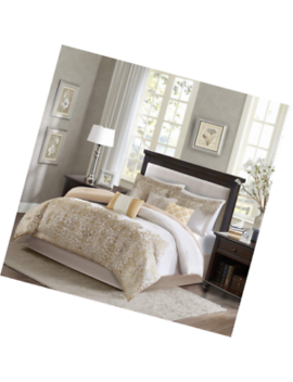 Madison Park Vanessa Queen Size Bed Comforter Set Bed In A Bag   White Gold, Jac by Madison Park