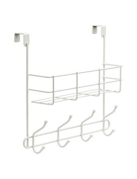 Over The Door Basket With Hook Rail White   Room Essentials™ by Room Essentials™