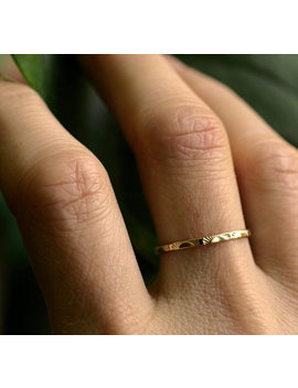 Sunrise Ring 14k Gold Ring 10k Gold Sterling Sun Ring Dainty Gold Ring Solid Gold Delicate Band Stacking Ring Skinny Ring Sunrise Band by Etsy