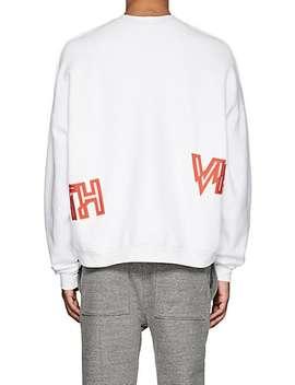 Logo Cotton Fleece Sweatshirt by Visitor On Earth