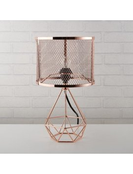 Better Homes & Gardens Perforated Rose Gold Geo Lamp by Generic