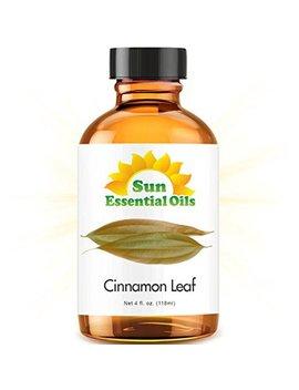Cinnamon Leaf (Large 4oz) Best Essential Oil by Sun Essentials