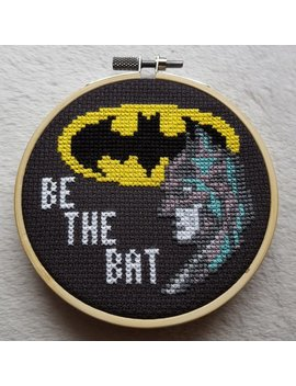 Be The Bat Pdf Cross Stitch Pattern / Batman / Instant Download by Etsy