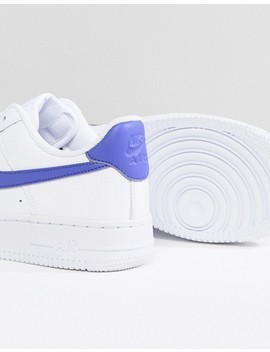 Nike Air Force 1 Sneakers In White And Blue by Nike