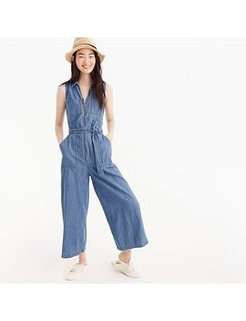 Point Sur Zip Front Chambray Jumpsuit by J.Crew