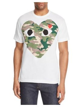 Camouflage Heart Graphic Tee by Comme Des Garcons Play
