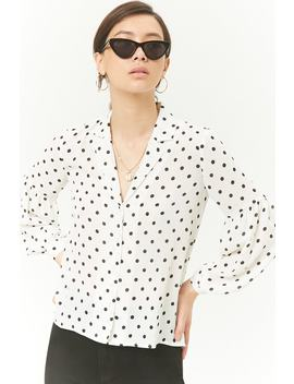 Chiffon Polka Dot Top by Forever 21