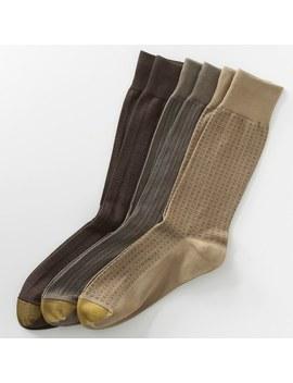 Men's Goldtoe 3 Pk. Patterned Microfiber Dress Socks by Kohl's