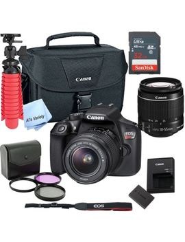 New Canon Rebel T6 Slr Camera Premium Kit W/ 18 55 Lens, Bag, Sd Card by Canon