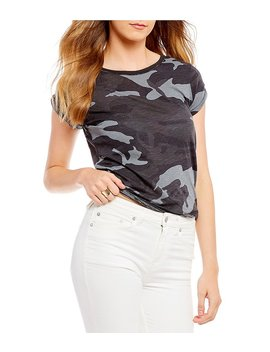 Printed Clare Knit Camo Tee by Generic