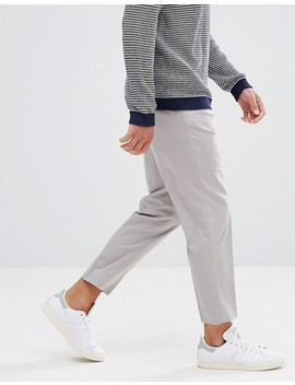 Asos Tapered Smart Trousers In Ice Grey by Asos